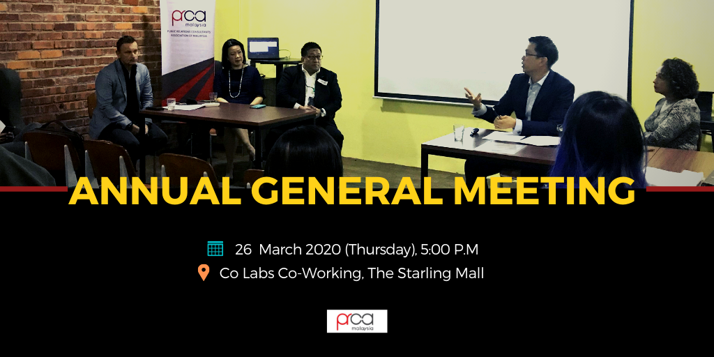 PRCA Malaysia Annual General Meeting 2020