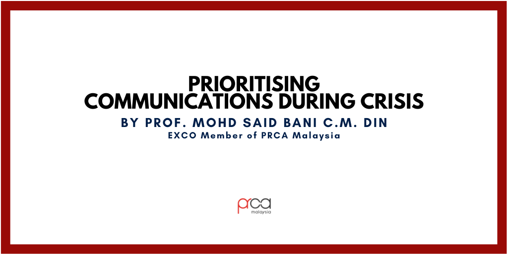 Prioritising Communications During Crisis
