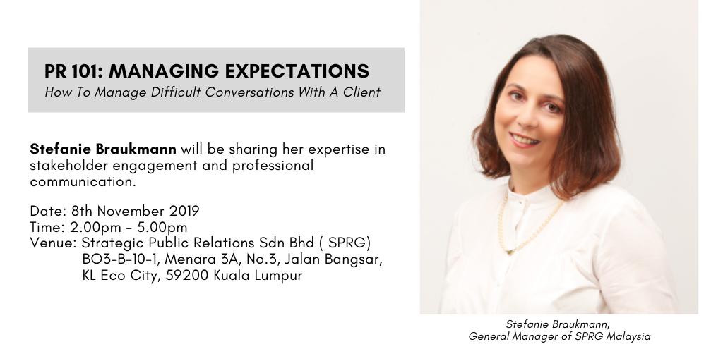 PR101: Managing Expectations