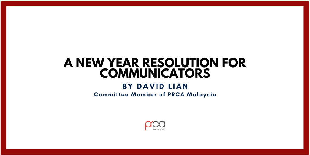 A New Year Resolution for Communicators