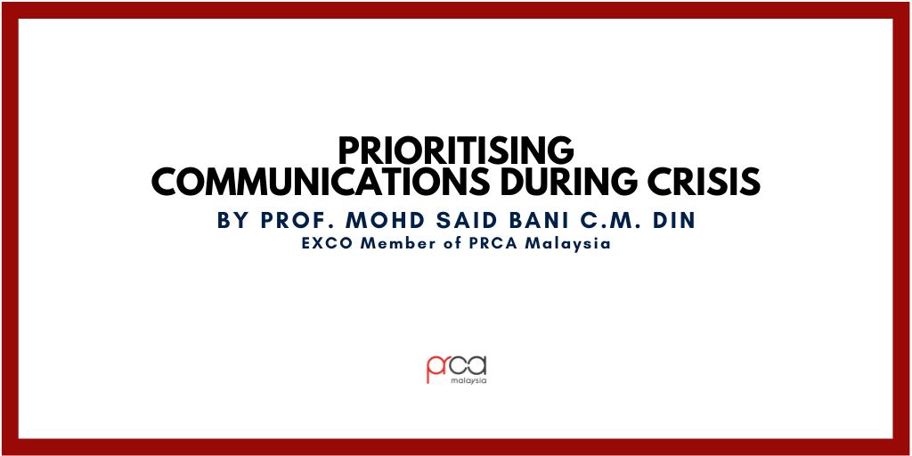 Prioritising Communications During Crisis